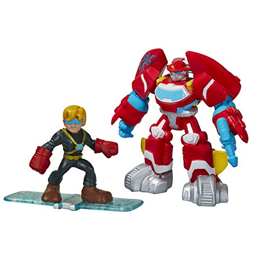 Playskool Heroes Transformers Rescue Bots Heatwave The Fire-Bot and Cody Burns Figure Pack - 1