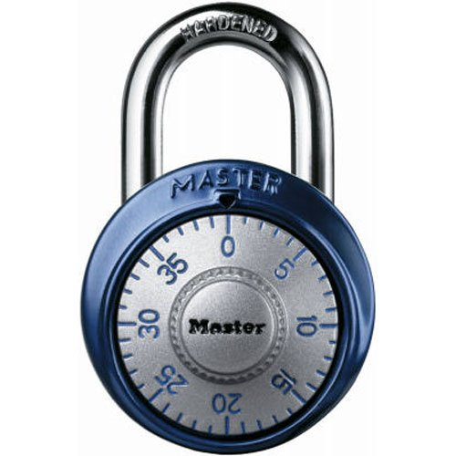 Master Lock 1561DAST Combination Dial Padlock, With Aluminum Cover, 1-7/8-Inch Wide, Assorted Colors (Dial Padlock compare prices)
