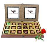 Valentine Chocholik's Belgium Chocolates - 18pc Gold Love Chocolate Box With Red Rose