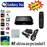 [2015 new arrivals] GooBang Doo M8S TV Box Amlogic S812 Quad Core Fully loaded Add-ons and KODI Google Android 4.4.2 Kitkat H.265 Airplay Miracast 3D Blu-ray Best Streaming Media Player with GooBang Doo Cleaning Cloth