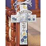 Abbey Press Baptism Cross Adornment - Inspiration Faith Blessing Spirit 32555-ABBEY