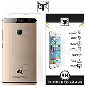 TheGiftKart Soft Clear Back Cover + Tempered Glass for Micromax Canvas 6 - E485 (Not for Canvas 6 PRO - E484)