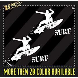 Surfer Surfboard Surf Vinyl Decal Sticker / 6