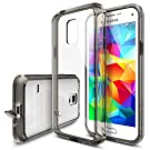 Galaxy S5 mini Case - Ringke FUSION Case [Free HD Film/Drop Protection][SMOKE BLACK] Shock Absorption Bumper Premium Hard Case for Samsung Galaxy S5 mini - Eco/DIY Package