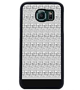 PrintDhaba Typography D-1816 Back Case Cover for SAMSUNG GALAXY S6 (Multi-Coloured)