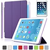 Besdata For Apple iPad Air Magnetic Smart Cover Stand + Hard Back Case Free Stylus - Supreme Quality - Protects the Device - UK Stock - Purple - PT4105