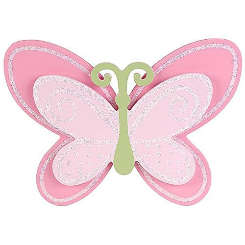 Babies R Us By Design Pink Butterfly Wooden Wall Decor - 1