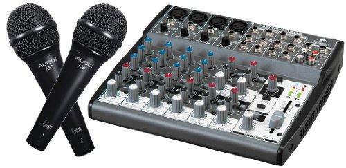 Behringer Xenyx 1202 Premium 10-Input 2-Bus Audio Mixer With 2 Audix F50 Vocal Microphone Bundle,