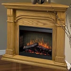 Dimplex Symphony Maestro Oxford Corner Electric Fireplace In Medium Oak Kitchen