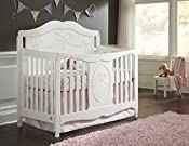 Stork Craft Princess 4 In 1 Fixed Side Convertible Crib