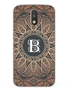 Moto G4 Back Cover - Initial B - Classy And Personalised - Designer Printed Hard Shell Case