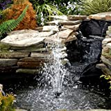 Sunspray� SE 450 solar fountain for small ponds with battery backup and adjustable flow pumpby PowerBee Ltd