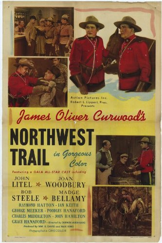 Northwest Trail Vintage 1945 Film Poster
