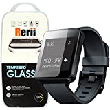 Rerii Tempered Glass Screen Protector for LG G Watch W100 Smart Watch, 9H Hardness 0.3mm Thickness REAL Tempered Glass, Shatterproof, High Definition Clear, Oleophobic Coating