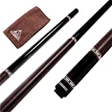 CUESOUL Handmade Pool Cue Stick African Ebony Wood 1/2 Jointed Billiard Pool Cue