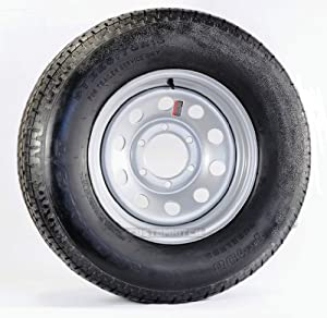 Goodyear Marathon Trailer Tire + Rim ST225/75R15 225/75-15 15 D Wheel Silver Mod