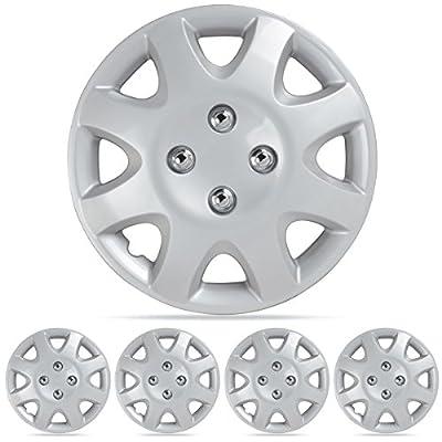 "BDK Honda Civic Hubcaps Wheel Cover, 14"" Silver Replica Cover, (4 Pieces)"