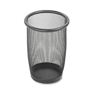 Safco Products Onyx Mesh Small Round Wastebasket, 3 Quart, Black, 9716BL