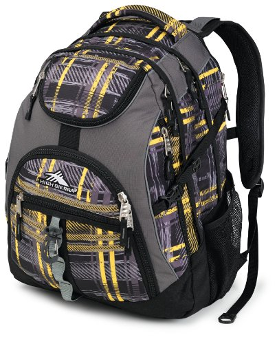 High Sierra Access Backpack, Yellow, 20x15x9.5-Inch