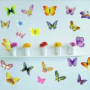 BestOfferBuy Pegatinas de Mariposas de Diferentes Colores