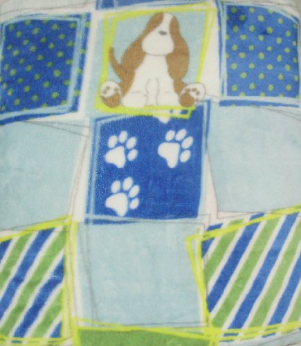 Blue Soft Borrego Blanket Puppy - 1