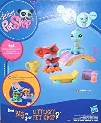 Littlest Pet Shop Rollin' Fun Park Gift Pack - Includes Pet #2043 and #2044 - Ages 4 and Up by Hasbro