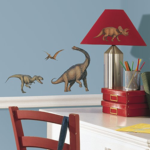 RoomMates RMK1043SCS Dinosaurs Peel & Stick Wall Decals, 16 Count - 1