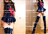 海外工場直送!コスプレmyshow26 紺エナメルセーラーレオタード・ソックス付☆コスプレ衣装  ディズニークリスマス、ハロウィン イベント仮装  コスチューム