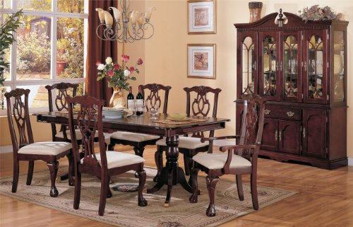 Cheap Inland Empire Furniture Poland Solid Wood Seven Piece Dining Set with Buffet (B008R9CO6E)
