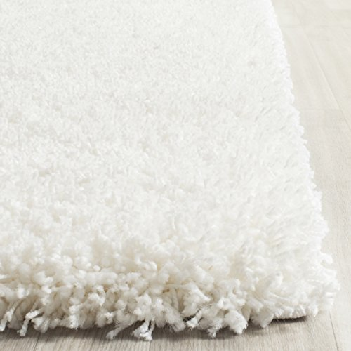 Safavieh california shag collection sg151 1010 white shag area rug 11 feet by 15 feet 11 x 15 - Cozy white shag rug for the comfortable steps sensation ...