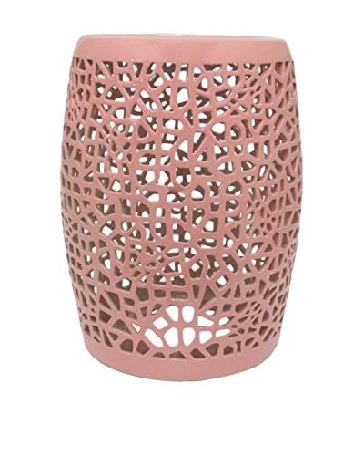 Three Hands Ceramic Garden Stool in Pink As You See