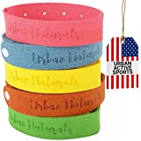 Mosquito Repellent Bracelet 100% Natural Ingredients No Deet + Family Bundle 5 Multicolor Pack + Up to 240HRS Insect Shield + Skin Friendly & DEET Free (MultiColor Pack)
