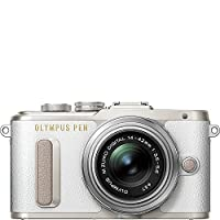 Olympus E-PL8 with 14-42mm IIR Silver Lens with 3-Inch LCD (White)