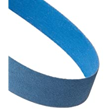 "Norton BlueFire R823P Benchstand Abrasive Belt, Waterproof, Polyester Backing, Zirconia Alumina, 1"" Width, 42"" Length, Grit 120  (Pack of 5)"