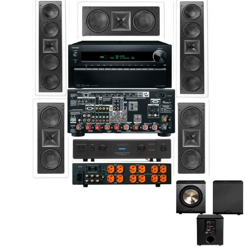 Klipsch Kl-6504-Thx 5.1 Wall System-Onkyo Tx-Nr3010-Furman Elite-20-Free Pl-200