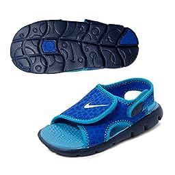 New Nike Baby Boy\'s Sunray Adjust 4 Sandal Lyon Blue/White 5