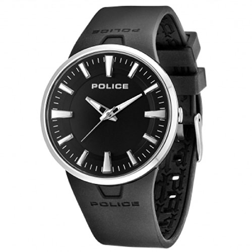 Police 14003Js02 Stainless Steel Case Black Rubber Mineral Men'S Watch