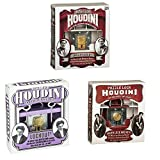 Recent Toys Houdini Lock Brainteaser Puzzle Bundle: Dead Lock, Lockout, and Under Lock and Key (Set of 3)