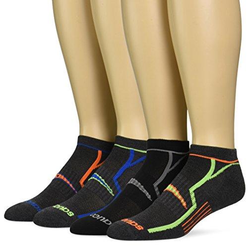 saucony-mens-6-pack-performance-no-show-socks-grey-blk-asst-10-13-sock-8-12-shoe