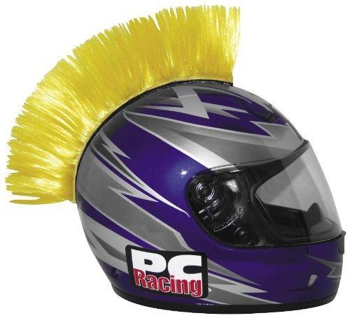 PC Racing Helmet Mohawk , Color: Yellow PCHMYELLOW