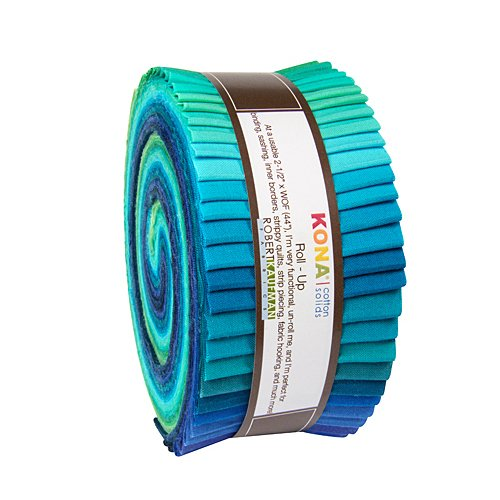 Julie Herman Kona Cotton Solids Roll Up 40 2.5-inch Strips Jelly Roll Robert Kaufman RU-468-40 (Jelly Rolls Solids compare prices)