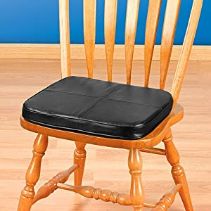 Kennedy Home Collections Faux Leather Tufted Chair Pad In Black