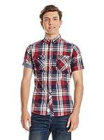 Lee Cooper Camisa Hombre Martock (Rojo)