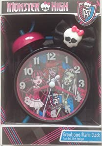 Monster High Twin Bell Growlicous Alarm Clock with Applique from CakeSupplyShop