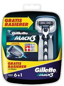 Gillette MACH3 6er Klingen mit Gratis Rasierer