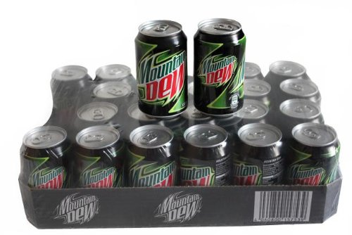 Mountain Dew, Tray mit 24 Dosen a 330 ml