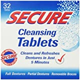 Denture Cleanser 32 Tab By Secure Denture Adhesive (1 Each)