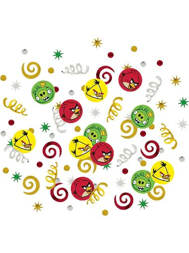 Amscan Unisex Adult Angry Birds Value Confetti Multi-colored Medium