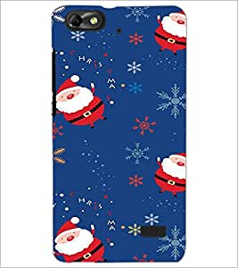 Printdhaba Santa Claus D-2230 Back Case Cover For Huawei Honor 4C