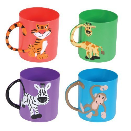 Assorted Color Animal Mugs (1 dz)